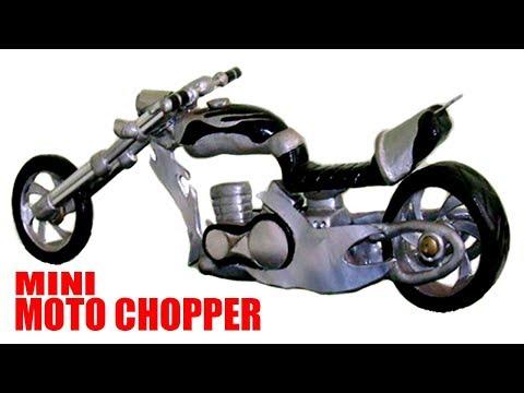 D.I.Y Mini Moto Chopper  Casera Alumínio  Epox Madeira