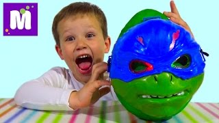 Черепашки Ниндзя большое яйцо сюрприз распаковка игрушки