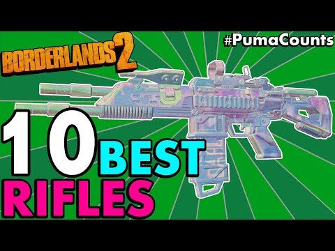 Top 10 BEST ASSAULT RIFLES in Borderlands 2! (Best Rifles for Axton, Gaige, Gunzerker) #PumaCounts