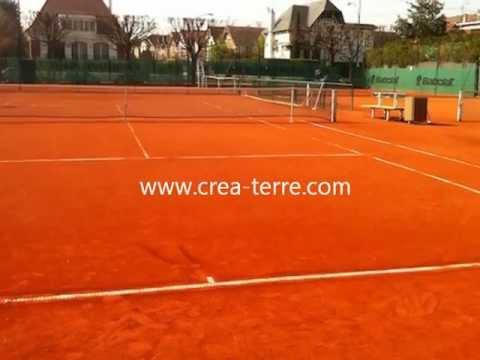 construction d'un court de tennis terre battue crea-terre