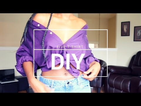 Download 5 Super EASY T-Shirt/Button Down DIY Styles HD Mp4 3GP Video and MP3