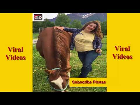Hot Girl Making Love With Horse | WOW Animal Love Their Owner Very Much#AnimalFun