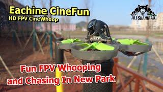 Eachine CineFun HD FPV CineWhoop FPV Chasing Kids In New Park