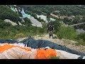 CRAZY paragliding take off in church! Параплан в Святогорске.