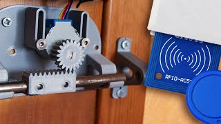 3D Printed RFID Door Lock - Using Arduino Uno And 5V Stepper Motor (free .stl Files And Code)