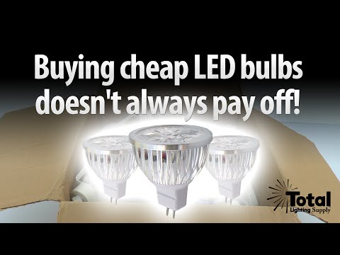 Buying cheap LED bulbs doesn't always pay off!