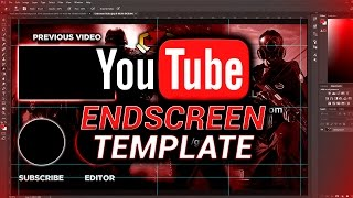 free youtube outro endscreen template photoshop download