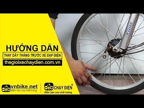 Thay bố thắng trước xe đạp điện