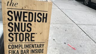 SnusCENTRAL Visits The Swedish Snus Store In Chicago Illinois!