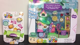 Mad Hatters Hat Shop Disney Tsum Tsums Playset Series 10 Pack Toy Unboxing & Review