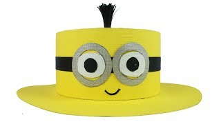 Easy DIY Minions Hat - Learn To Make Minions Hat At Home - Easy Craft Tcraft
