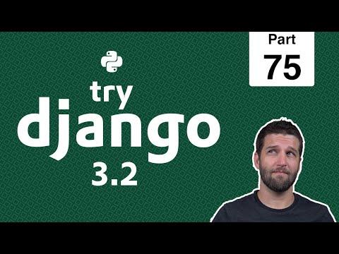 75 - Django Static Files in Production on DigitalOcean Spaces - Python & Django 3.2 Tutorial Series thumbnail