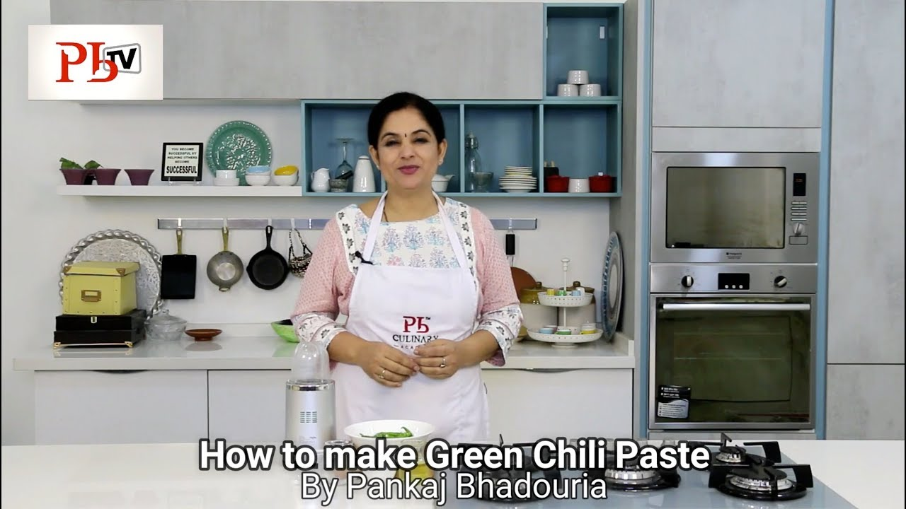 How to make Green Chili Paste Image