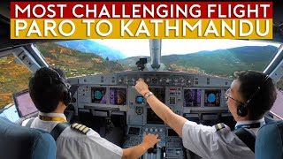 Cockpit Flight Challenge - Paro to Kathmandu over Himalayas