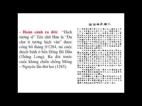Ngữ văn 8 Tiết 93: Văn bản – Hịch tướng sỹ