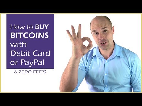 How to buy Bitcoins with debit card or Paypal - ZERO fee's