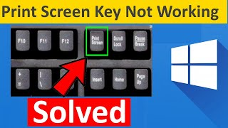 How to solve Print Screen Not Working in Windows 10