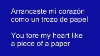Mis ojos lloran por ti lyrics in english. Escorpio123ss.