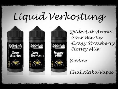 YouTube Video zu Spider Lab Crazy Strawberry Longfill Aroma 15 ml für 100 ml