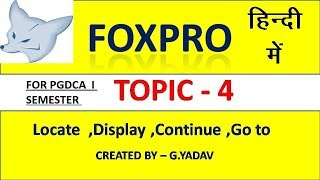 foxpro tutorial in hindi - 免费在线视频最佳电影电视节目