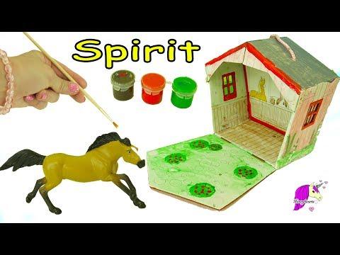 DIY Spirit Riding Free Stablemates Stallion + Barn Painting Craft Set – Do It Yourself Video