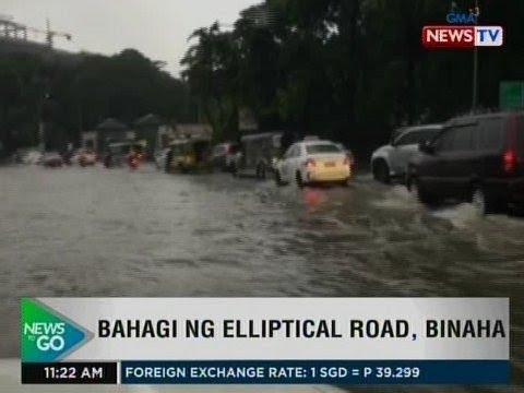 [GMA]  NTG: Bahagi ng Elliptical Road, binaha