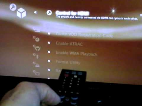 How to control PS3 with TV remote
