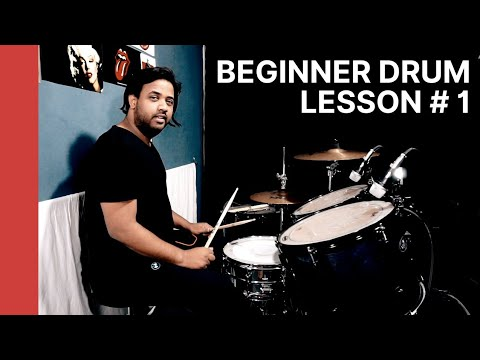 BEGINNER DRUM LESSON # 1 by TARUN DONNY