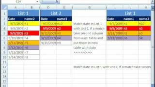 Excel Magic Trick 382: Match Two Lists, Extract Column Data From Each List