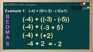 WCLN - Math - BEDMAS with Integers