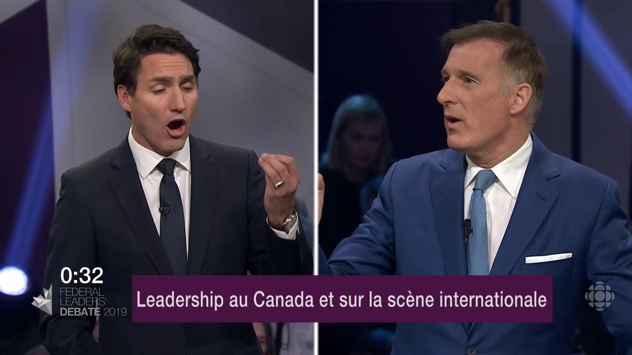 Maxime Bernier et Justin Trudeau débattent sur la représentation du Canada à l'étranger