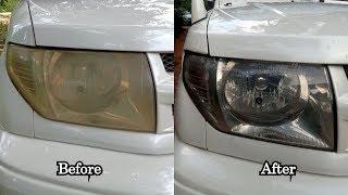 How To Restore Headlights  -  Mitsubishi Pajero Head Light Restoration