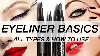 EYELINER HOW TO! ALL TYPES & HOW TO APPLY THEM!!