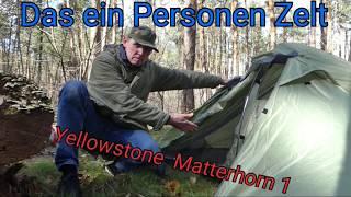 Das ein Personen Zelt Matterhorn 1 von Yellowstone