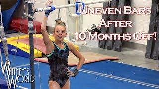 Uneven Bars after Elbow Surgery   Whitney Bjerken Gymnastics