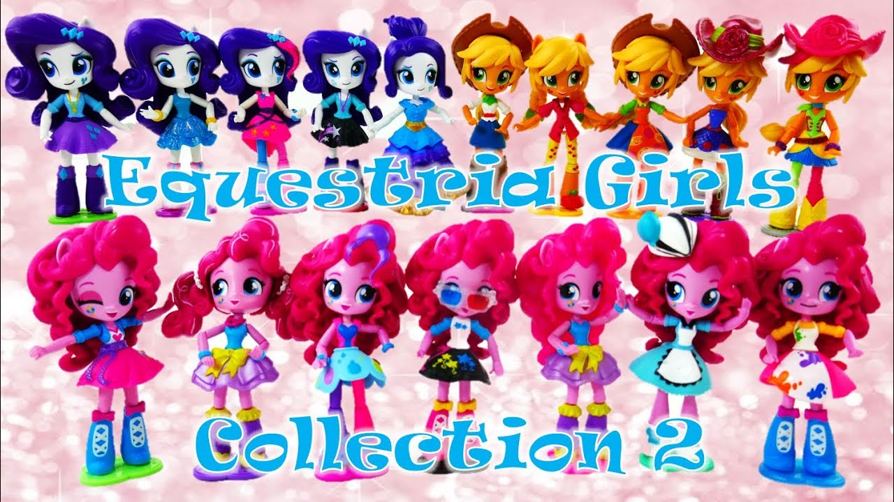 MLP Equestria Girls Minis Doll Collection 2 Rarity Applejack Pinkie Pie and Surprises