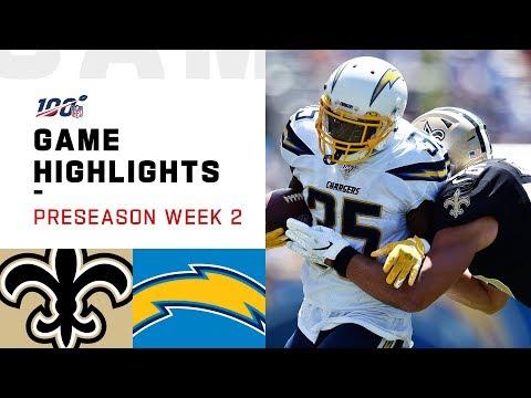 Saints vs. Chargers Preseason Week 2 Highlights   NFL 2019