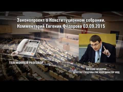 Законопроект о Конституционном собрании  Комментарий Е А  Фёдорова 03 09 15