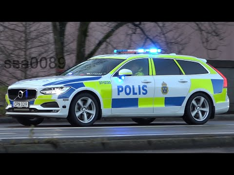 [EU Göteborg 2017] Swedish Police Escort European Union Heads Of State (Volvo V90 POLISBIL) Part 1