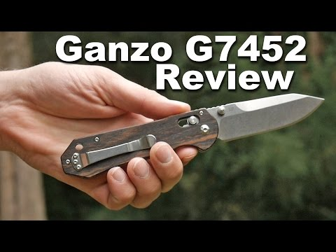 Ganzo G7452 Ebony Wood Handled Pocket Knife Review.  One of the Best Under $20.