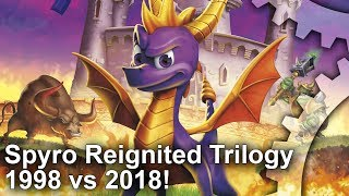 Spyro Reignited Trilogy: Complete Xbox/PS4 vs PS1 Graphics Comparison