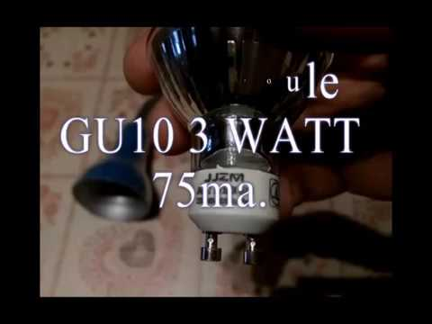 Test ampoule LED GU10 3 watt.