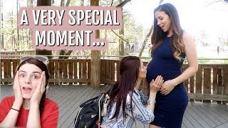 ASKING HER TO BE MY BABY'S GODMOTHER!