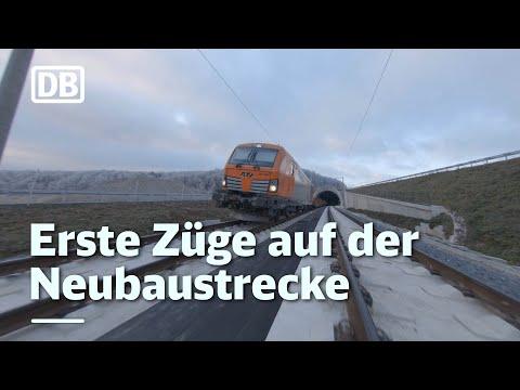 Erste Züge auf der Neubaustrecke
