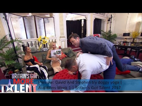 Preview: David And Stephen Try Doggy Yoga | Auditions Week 1 | Britain's Got Talent 2017