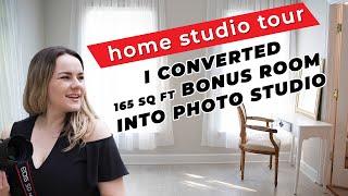 My Small Home Photography Studio Tour || How I Converted A Bonus Room Into A Portrait Photo Studio