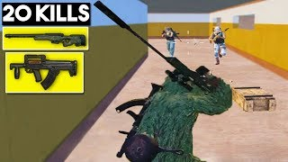 BEST WEAPON COMBO AWM + GROZA | 20 KILLS SOLO Vs SQUAD  PUBG Mobile