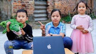 Trò Chơi Người Chị Vô Tâm - Chị Ơi Em Đói Bụng - Bé Nhím TV - Đồ Chơi Trẻ Em Thiesu Nhi