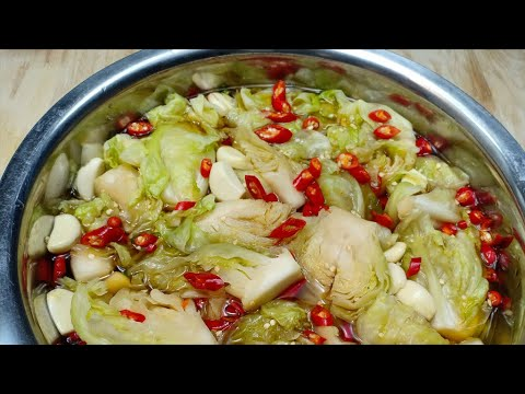 How To Make Cabbage Pickle | វិធីធ្វើ ជ្រក់ស្ពៃក្តោប អោយស្រួយឆ្ងាញ់ | របៀបធ្វើម្ហូប វិធីធ្វើម្ហូប