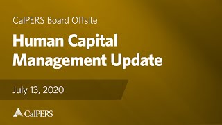 Human Capital Management Update | July 13, 2020